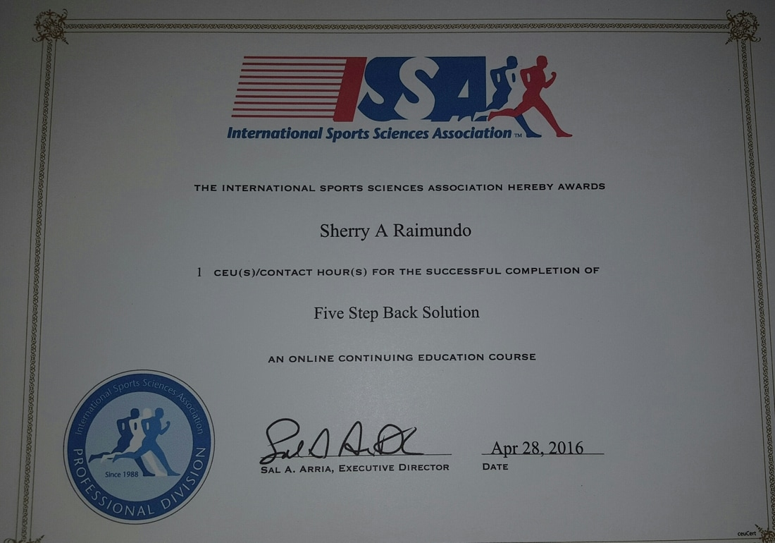 My Certifications Fit With Sherry Llc